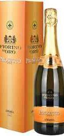 Вино игристое белое сухое «Prosecco Spumante Fiorino d'Oro» в подарочной упаковке