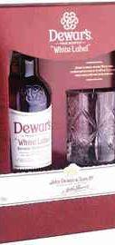 Виски шотландский «Dewar's White Label» в подарочной упаковке с бокалом