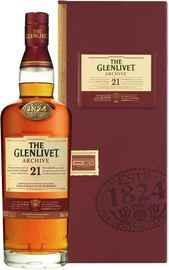 Виски шотландский «Glenlivet 21 Years Old Archive» в подарочной упаковке