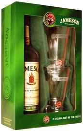 Виски ирландский «Jameson» в подарочной упаковке + 2 стакана