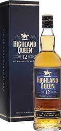 Виски шотландский «Highland Queen 12 years» в подарочной упаковке