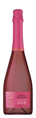 Вино игристое розовое полусухое «Красностоп Шато Тамань»