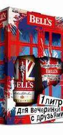 Виски шотландский «Bell's Original» набор в подарочной упаковке со стаканом
