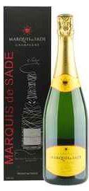 Шампанское белое брют «Marquis de Sade» в подарочной упаковке