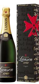 Шампанское белое брют «Lanson Black Label Brut» в подарочной упаковке