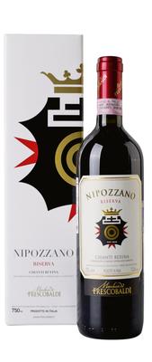 Вино красное сухое «Nipozzano Chianti Rufina Riserva, 0.75 л» 2015 г.. в подарочной упаковке