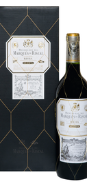 Вино красное сухое «Marques de Riscal Reserva» 2014 г.. в подарочной упаковке