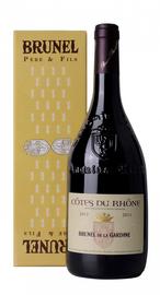 Вино красное сухое «Cotes du Rhone Brunel de la Gardine» 2017 г., в подарочной упаковке
