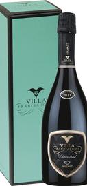 Вино игристое белое экстра брют «Diamant Pas Dose Franciacorta Villa» в подарочной упаковке