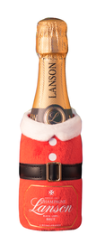 Шампанское белое брют «Champagne Lanson Black Label Brut in pouch Santa Claus» в чехле