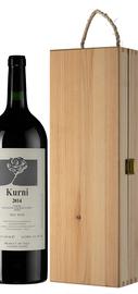Вино красное полусладкое «Kurni» 2014 г., в деревянной подарочной упаковке