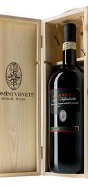 Вино красное полусухое «Amarone della Valpolicella Classico» 2013 г., в деревянной подарочной упаковке