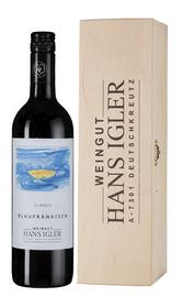 Вино красное сухое «Blaufrankisch Classic» 2016 г., в деревянной подарочной упаковке