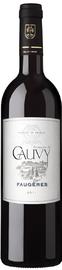 Вино красное сухое «Faugeres Domaine de Cauvy» 2016 г.