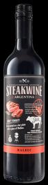 Вино красное полусухое «Steakwine Malbec» 2018 г., черная этикетка