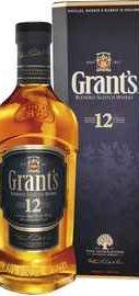 Виски шотландский «Grant's Aged 12 years old» в подарочной упаковке