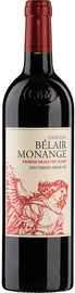 Вино красное сухое «Chateau Belair-Monange Saint-Emilion» 2014 г.
