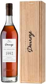 Арманьяк «Bas-Armagnac Darroze Unique Collection Domaine de Rieston a Perquie» 1992 г., в деревянной подарочной упаковке