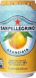 Газированный напиток «S. Pellegrino Aranciata» в жестяной банке