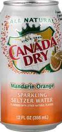Газированный напиток «Canada Dry Mandarin/Orange »