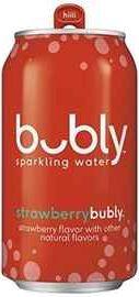 Газированный напиток «Bubly Strawberry»