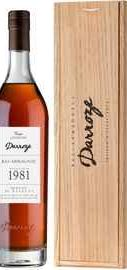Арманьяк «Bas-Armagnac Darroze Unique Collection Domaine de Guillemouta au Freche» 1981 г., в деревянной коробке