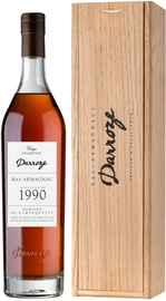 Арманьяк «Bas-Armagnac Darroze Unique Collection Domaine de Bertruc au Freche» 1990 г., в деревянной коробке
