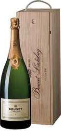 Вино игристое белое брют «Bouvet Tresor Saumur Brut» 2012 г. , в деревянной подарочной упаковке