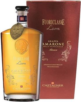 Граппа «Castagner Fuoriclasse Leon Riserva» в подарочной упаковке