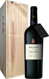 Вино красное сухое «Marques de Grinon AAA Dominio de Valdepusa» 2012 г., в деревянной подарочной упаковке