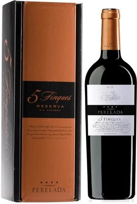 Вино красное сухое «Emporda Perelada 5 Fincas Reserva» 2013 г. в подарочной упаковке