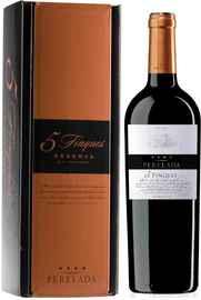 Вино красное сухое «Emporda Perelada 5 Fincas Reserva» 2015 г. в подарочной упаковке