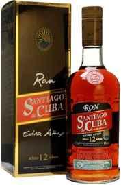 Ром кубинский «Santiago de Cuba Extra Anejo 12 years old» в подарочной упаковке