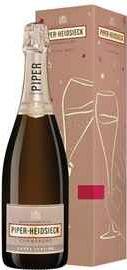 """Шампанское белое полусухое «Piper-Heidsieck Cuvee Sublime Demi-Sec» в подарочной упаковке """"Праздничный выпуск"""""""