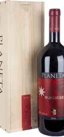 Вино красное сухое «Planeta Burdese Sicilia» 2010 г. в деревянной коробке