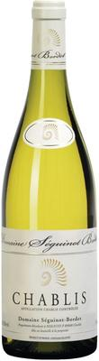 Вино белое сухое «Domaine Seguinot-Bordet Chablis, 0.75 л» 2016 г.