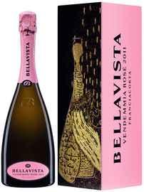 Вино игристое розовое брют «Bellavista Franciacorta Rose» 2014 г., в подарочной упаковке