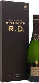 Шампанское белое экстра брют «Bollinger R D Extra Brut» 2004 г. в подарочной коробке