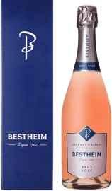 Вино игристое розовое брют «Cremant d'Alsace Bestheim Brut Rose» в подарочной упаковке
