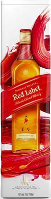 Виски шотландский «Johnnie Walker Red Label» в металлической коробке