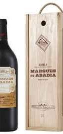 Вино красное сухое «Marques De Abadia Reserva » 2013 г. в деревянной подарочной упаковке