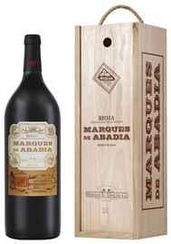 Вино красное сухое «Marques De Abadia Reserva» 2013 г. в деревянной подарочной упаковке