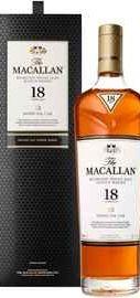 Виски шотландский «Macallan Sherry Oak 18 Years Old» в подарочной упаковке