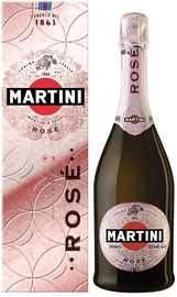 Вино игристое розовое экстра сухое «Martini Rose Extra Dry» в подарочной упаковке