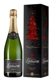 Шампанское белое брют «Champagne Lanson Black Label Brut» в подарочной упаковке