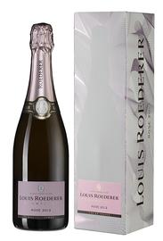 Шампанское розовое брют «Louis Roederer Brut Rose» 2013 г., в подарочной упаковке