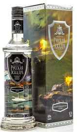 Водка «Русская Эскадра» с танком, в подарочной упаковке