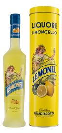 Ликер «Distillerie Franciacorta Lemonel» в подарочной упаковке