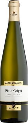 Вино белое сухое «Mastri Vernacoli Pinot Grigio» 2018 г.