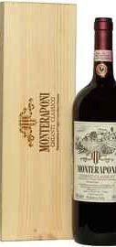 Вино красное сухое «Monteraponi Chianti Classico» 2014 г. в деревянной коробке